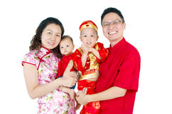 Asian family. Celebrate chinese new year royalty free stock photo