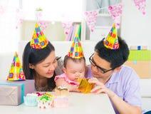 Asian family celebrating baby full moon party Royalty Free Stock Photo