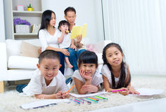 Asian family Royalty Free Stock Photo