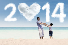 Asian family enjoying new year holiday Stock Images
