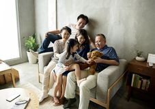 Asian family happiness togetherness at home Royalty Free Stock Photography