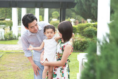 Asian family having fun Royalty Free Stock Images