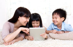 Asian family at home Royalty Free Stock Photography