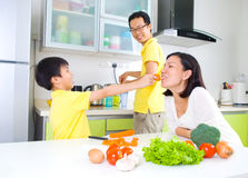 Asian Family Kitchen Lifestyle Royalty Free Stock Photo