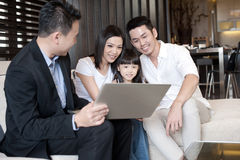 Asian Family Lifestyle Royalty Free Stock Photography