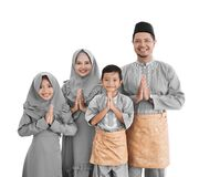 Family muslim asian isolated