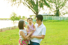 Asian family outing Stock Image