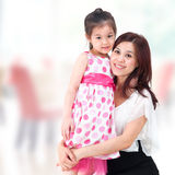 Mother and daughter at home. Royalty Free Stock Images