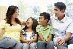 Asian family portrait Stock Photos