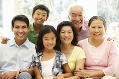 Asian family portrait Royalty Free Stock Image