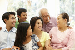 Asian family portrait stock image