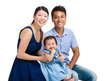 Asian family portrait with baby girl Royalty Free Stock Photos