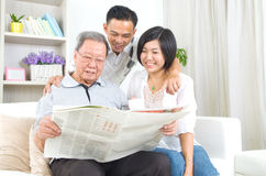Asian family Stock Photography