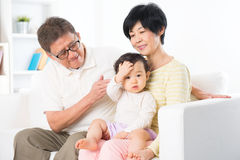 Asian family portrait indoor Stock Image