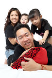 Asian Family portrait inside home Royalty Free Stock Photo