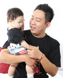 Asian Family portrait inside home Royalty Free Stock Images