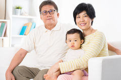 Asian family portrait Stock Photography