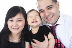 Asian family portrait in studio Royalty Free Stock Photography