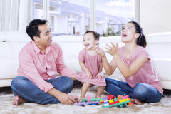 Asian family is spending time together at home Royalty Free Stock Images