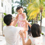 Asian family vacation Stock Photos