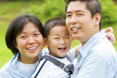 Asian famlily Stock Image
