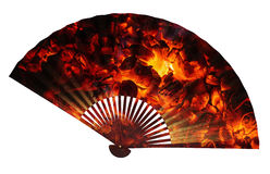 Asian Fan double exposure stock images