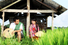 Asian farmer Stock Photo
