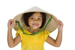 Asian farmer girl with missing teeth Stock Photos