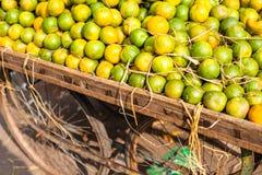 Asian farmer's market selling fresh fruits Royalty Free Stock Photo