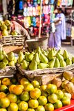 Asian farmer's market selling fresh fruits Royalty Free Stock Image