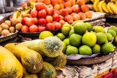 Asian farmer's market selling fresh vegetables Royalty Free Stock Photography