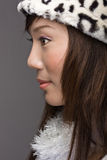 Asian fashion beauty in profile Stock Photos