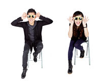 Asian fashion couple with sunglasses Stock Photography
