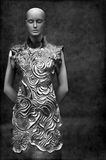 Asian fashion dress on mannequin Royalty Free Stock Photo
