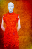 Asian fashion dress on mannequin Royalty Free Stock Photos