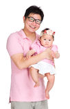 Asian father with daughter Royalty Free Stock Photo
