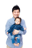 Asian father with his daughter Stock Photography