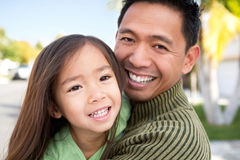 Asian father with his daughter. Portrait of an Asian father and her daughter Stock Images