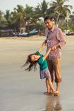 Asian father playing with his daughter Royalty Free Stock Images