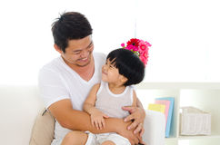 Asian father and son royalty free stock images