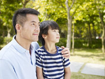 Asian father and son Royalty Free Stock Photography
