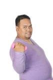 Asian fatman Royalty Free Stock Photos