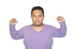 Asian fatman Stock Image