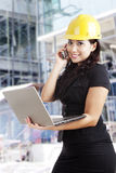 Asian female architect at workplace Stock Image