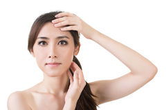 Asian female beauty face Royalty Free Stock Photography