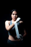 Asian Female Boxer Stock Image