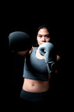 Asian Female Boxer Stock Photo