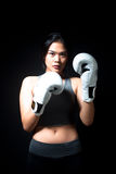 Asian Female Boxer Stock Image