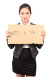 Asian female in business attire looking for job - Series 2 Royalty Free Stock Photography