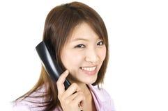 Asian female call center Stock Photo